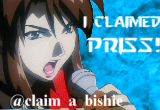 I claimed Priss at claim_a_bishie!